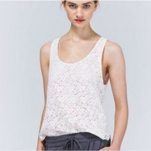 Aritzia Talula Betty Lace Lined Floral Tank Top
